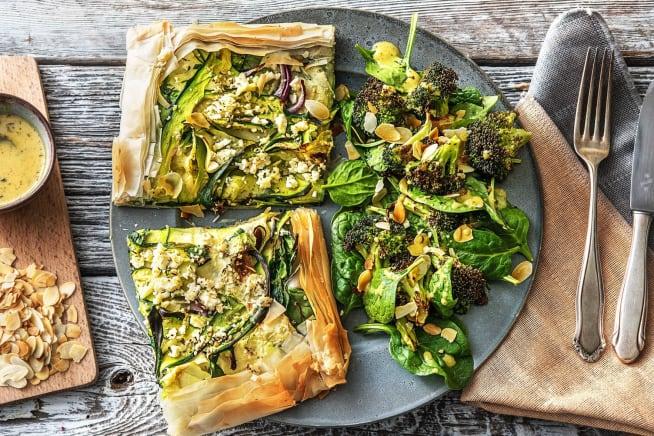 Quick Dinner Ideas - Za'atar and Feta Tart