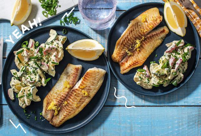 Zitroniges Tilapia-Fischfilet