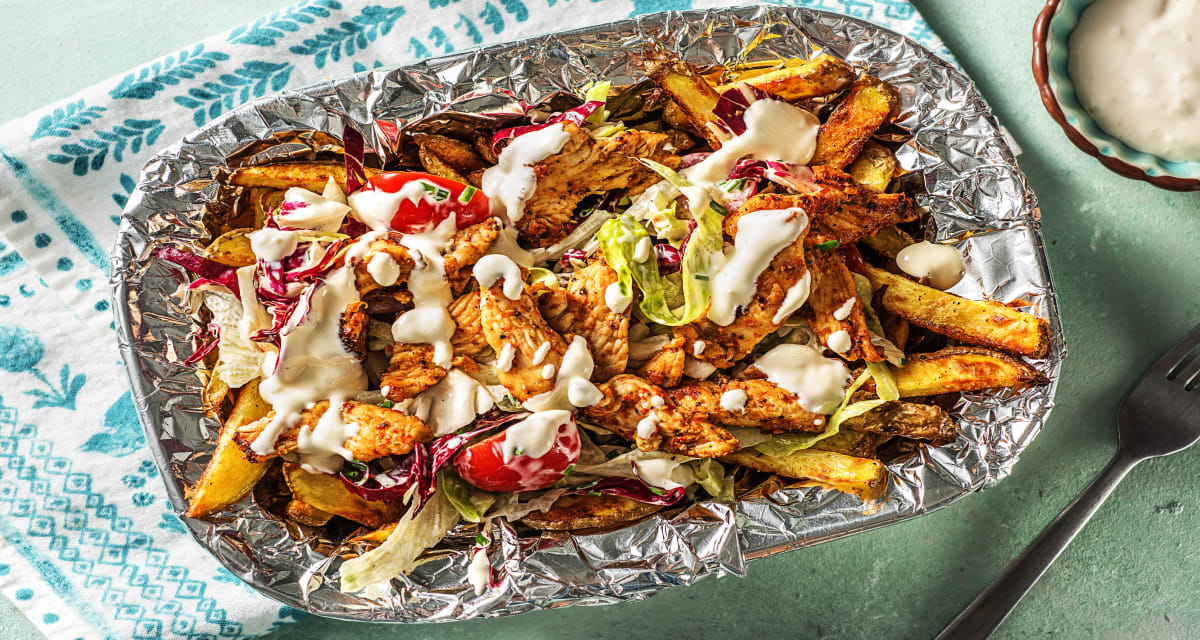 kapsalon met kipgyros recept | hellofresh