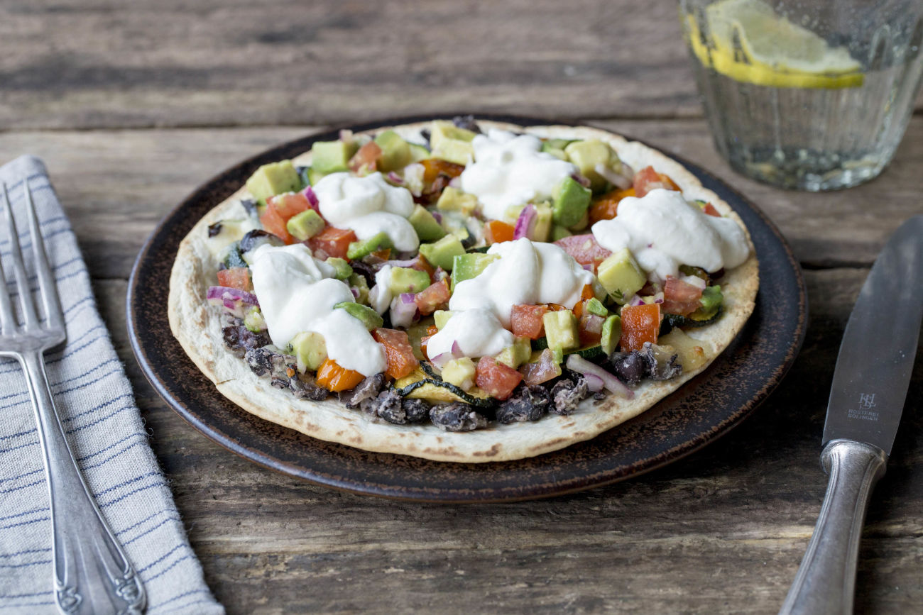Roasted Veggie Tostadas