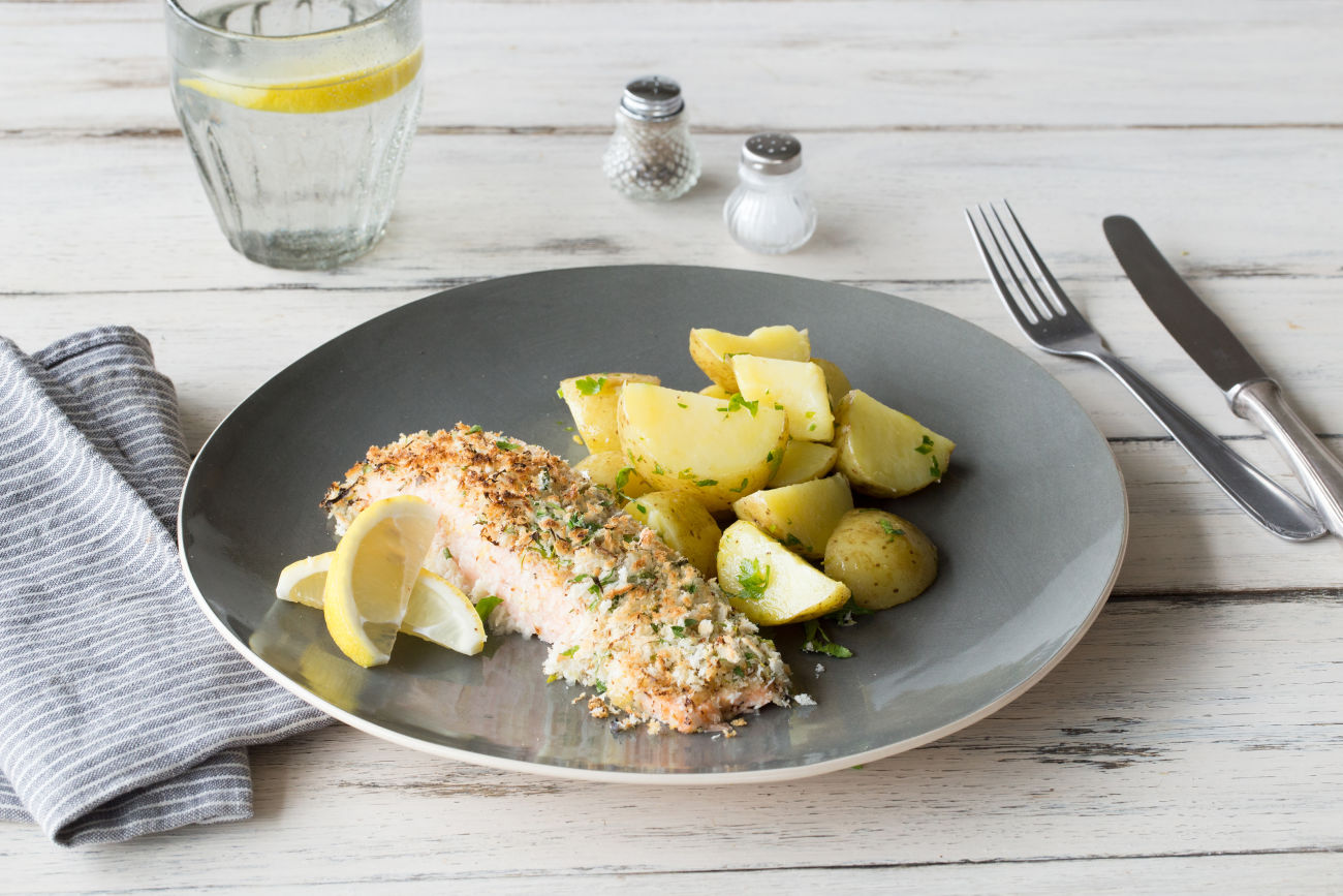 Parmesan-Crusted Salmon Recipe | HelloFresh