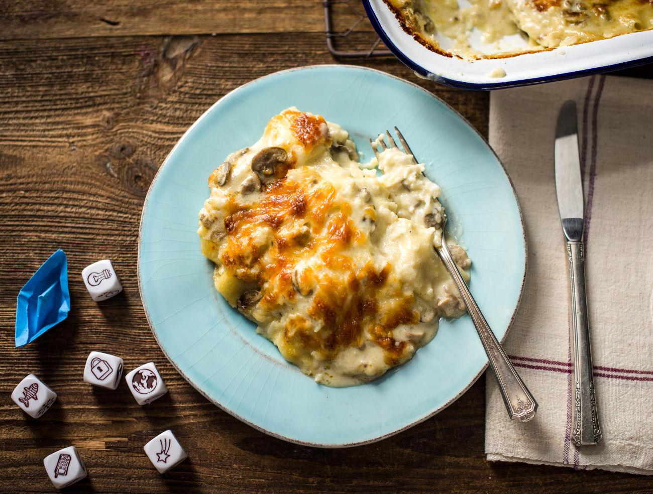 Lasagne met champignon-roomsaus