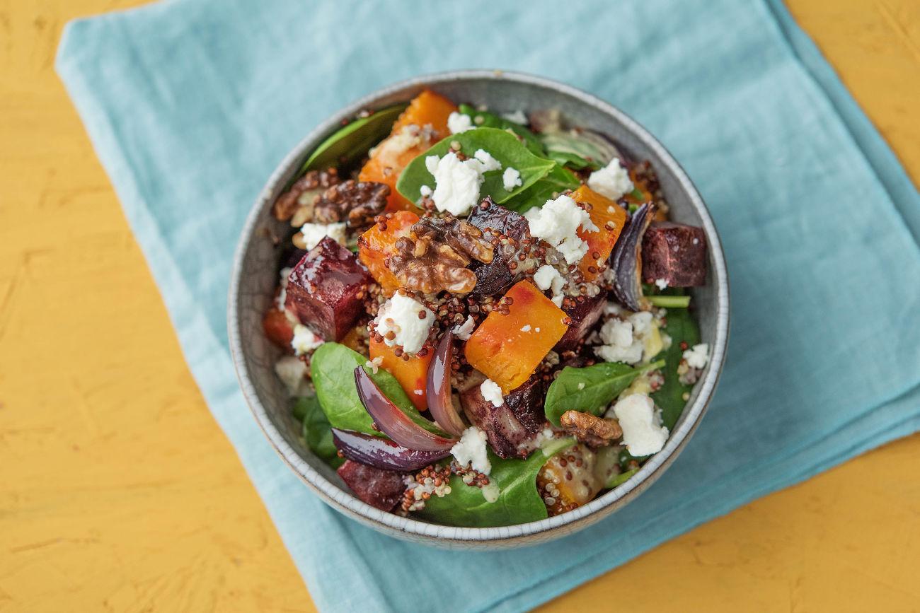 Pumpkin & Beet Quinoa Salad