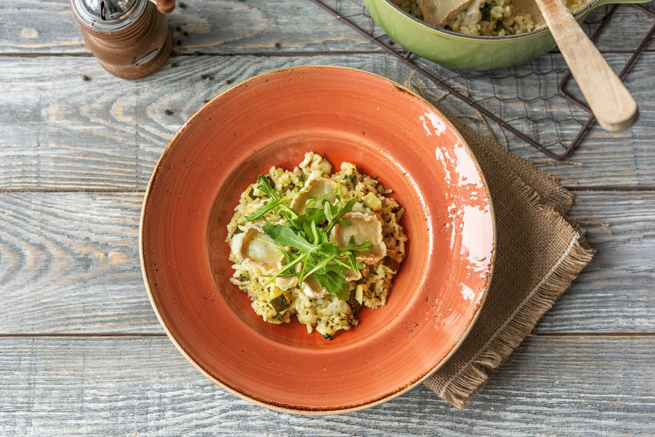 Baked Risotto with Brazil Nut Pesto