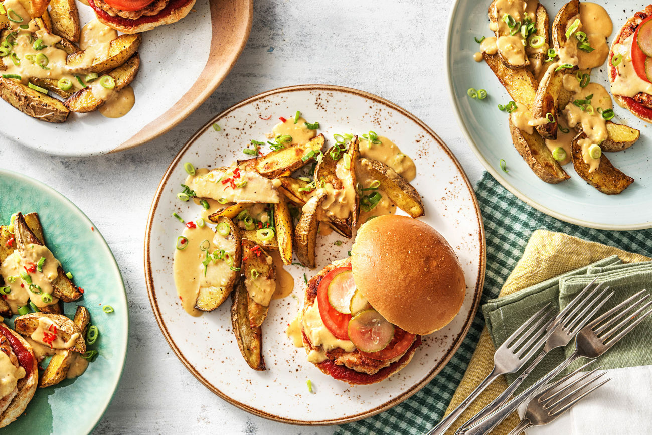 Barbecue-Turkey-Burgers-father's day dinner-HelloFresh