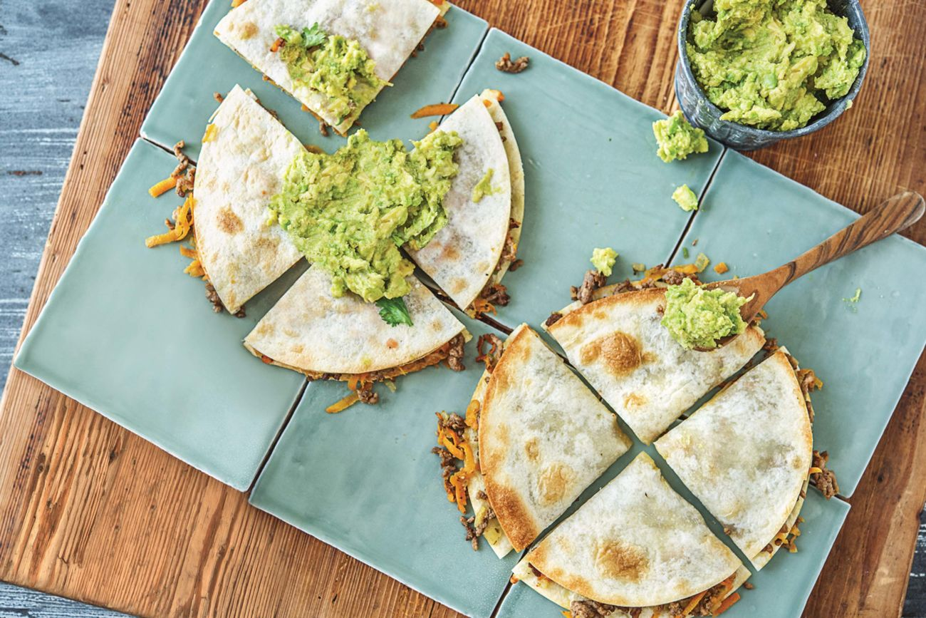 Oven-Baked Beef & Cheese Quesadillas