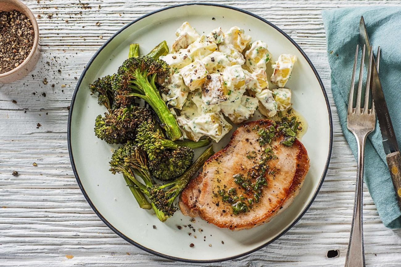 Sage and Browned Butter Pork Chops