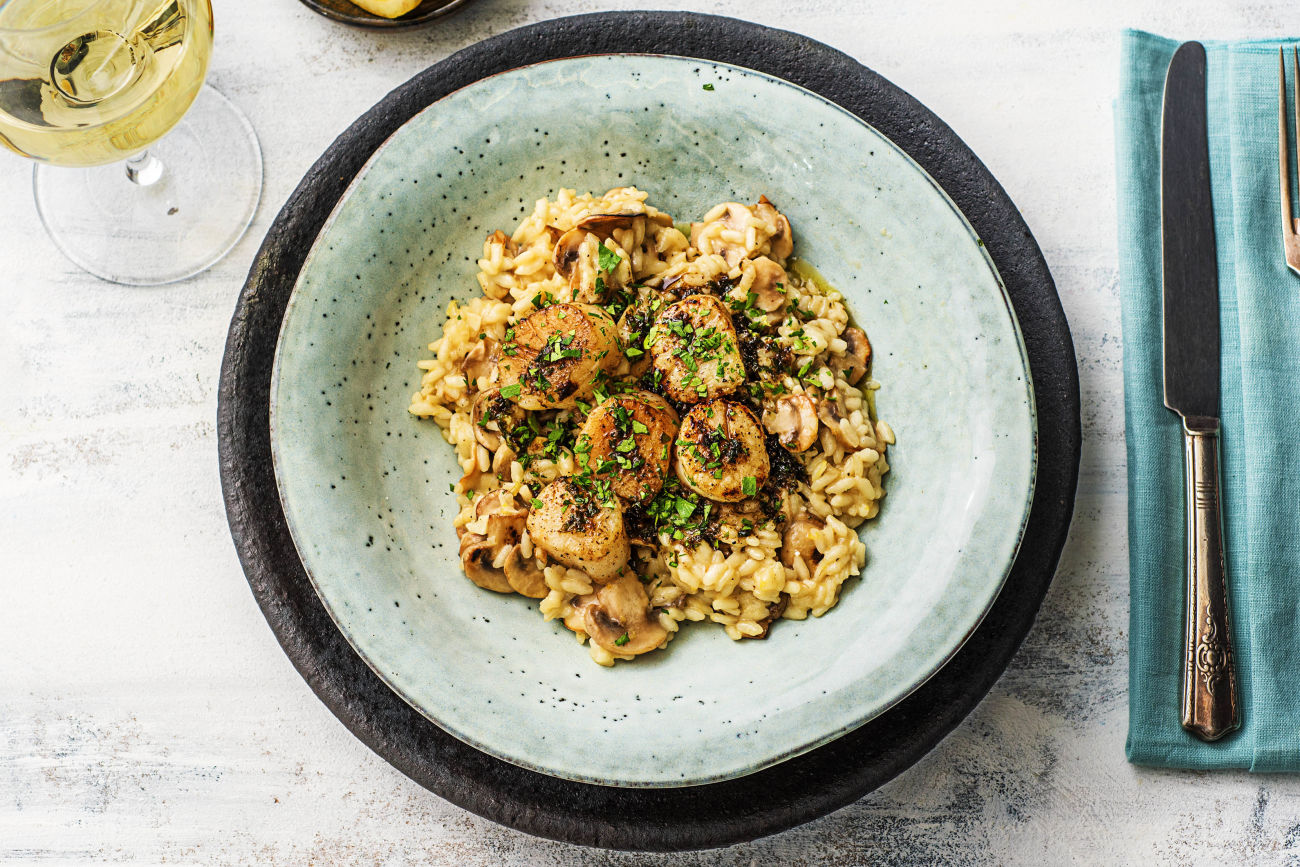 Scallops-Truffled-Mushroom-Risotto-seafood-HelloFresh
