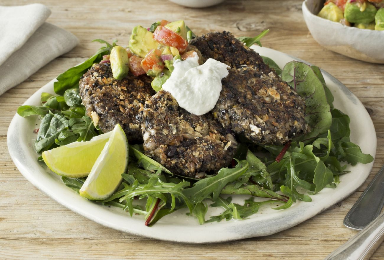 Smoky Black Bean Cakes