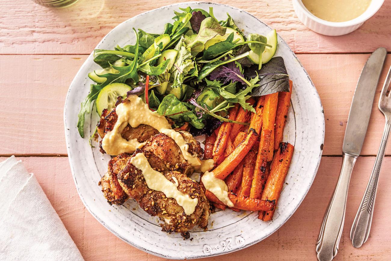 Zaatar Chicken & Honeyed Carrot Fries