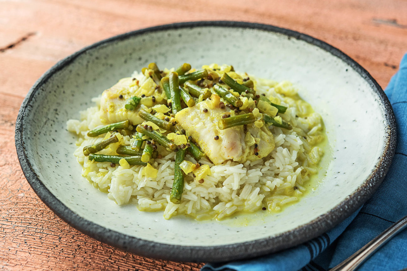Fish curry with rice and green beans recipe hellofresh sri lankan fish curry forumfinder Choice Image