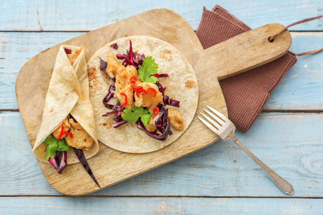 Chicken & Cabbage Slaw Tacos