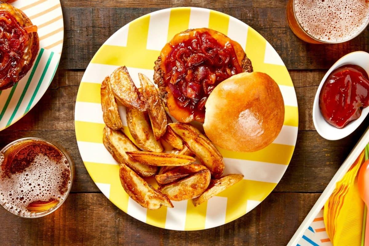 Chili-Onion Cheeseburgers