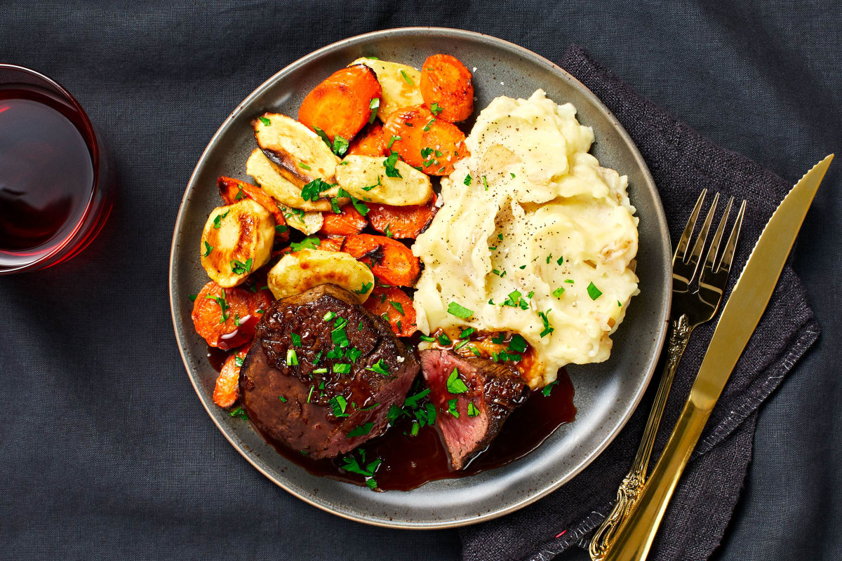 Beef Tenderloin with Brown Butter Roasted Veggies