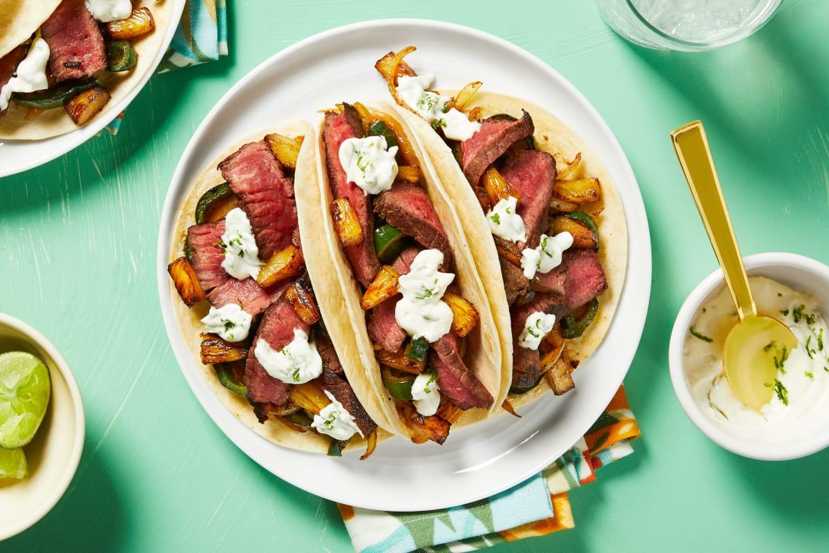 Marinated Steak Tacos