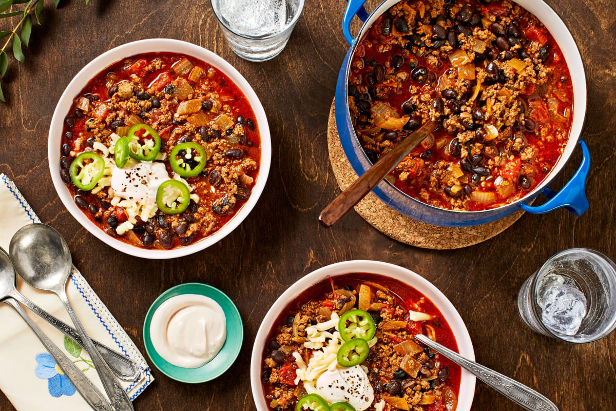 One-Pot Beef and Black Bean Chili