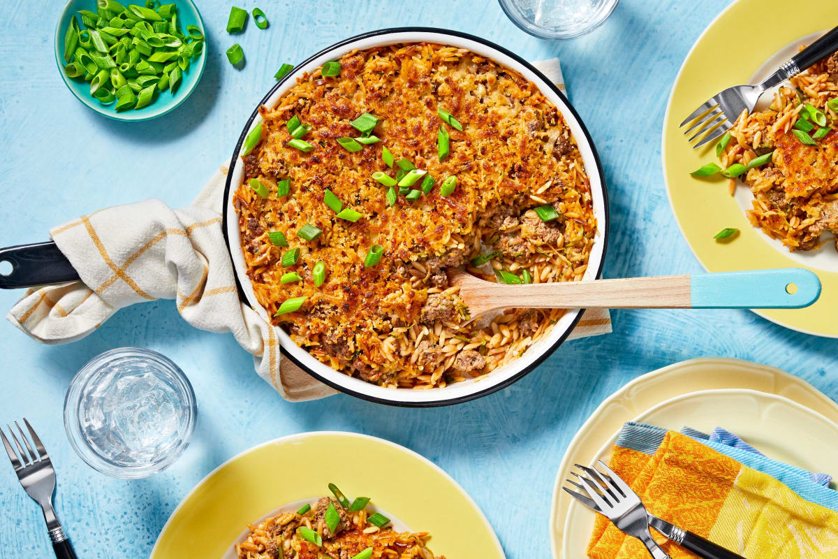One-Pot Beef Orzotto