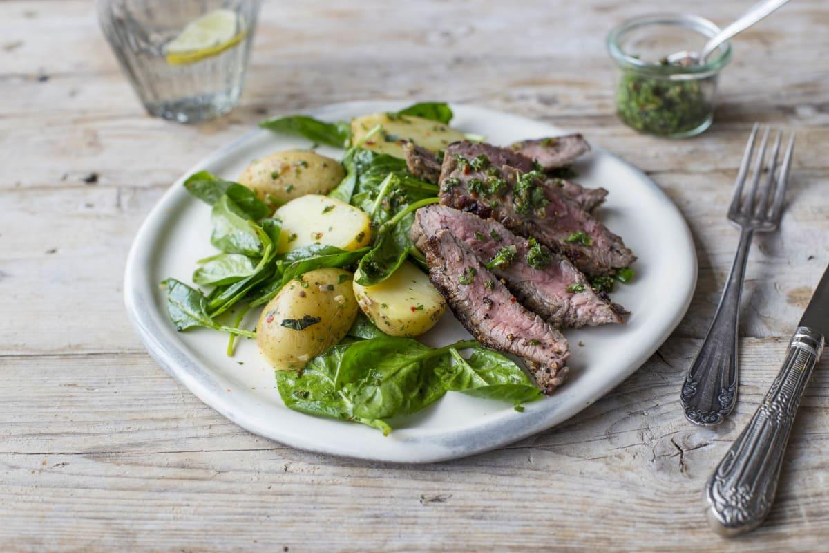 Seared Black Pepper Steak Salad