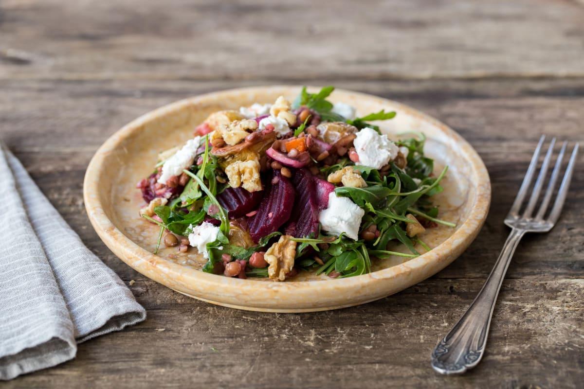 Roasted Beet & Lentil Salad