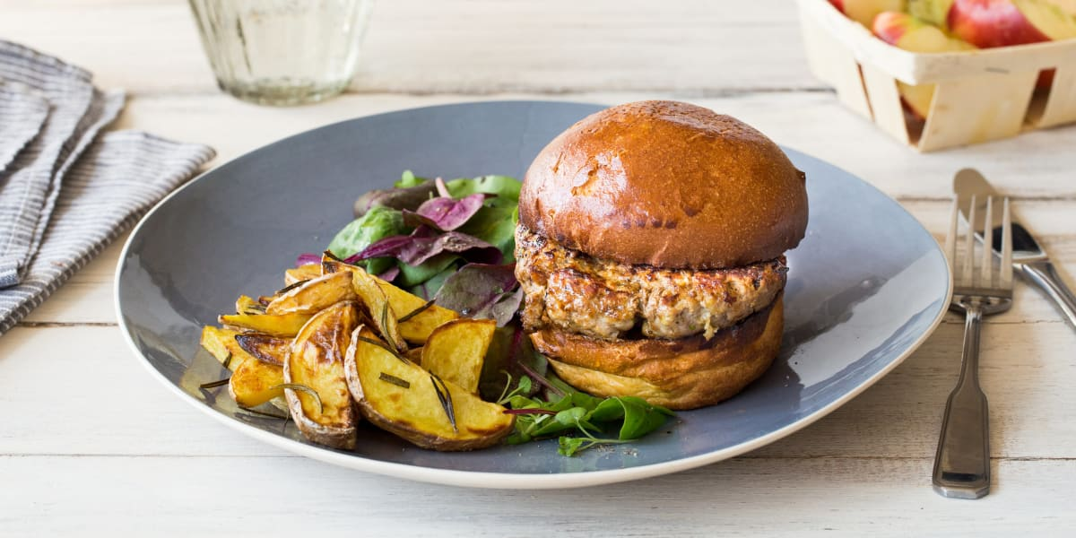 Pork and Apple Burger
