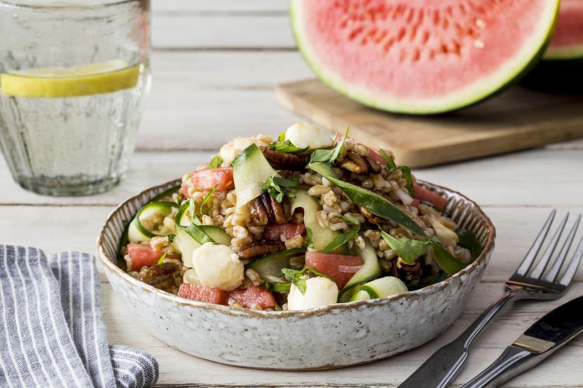 Watermelon and Farro Salad