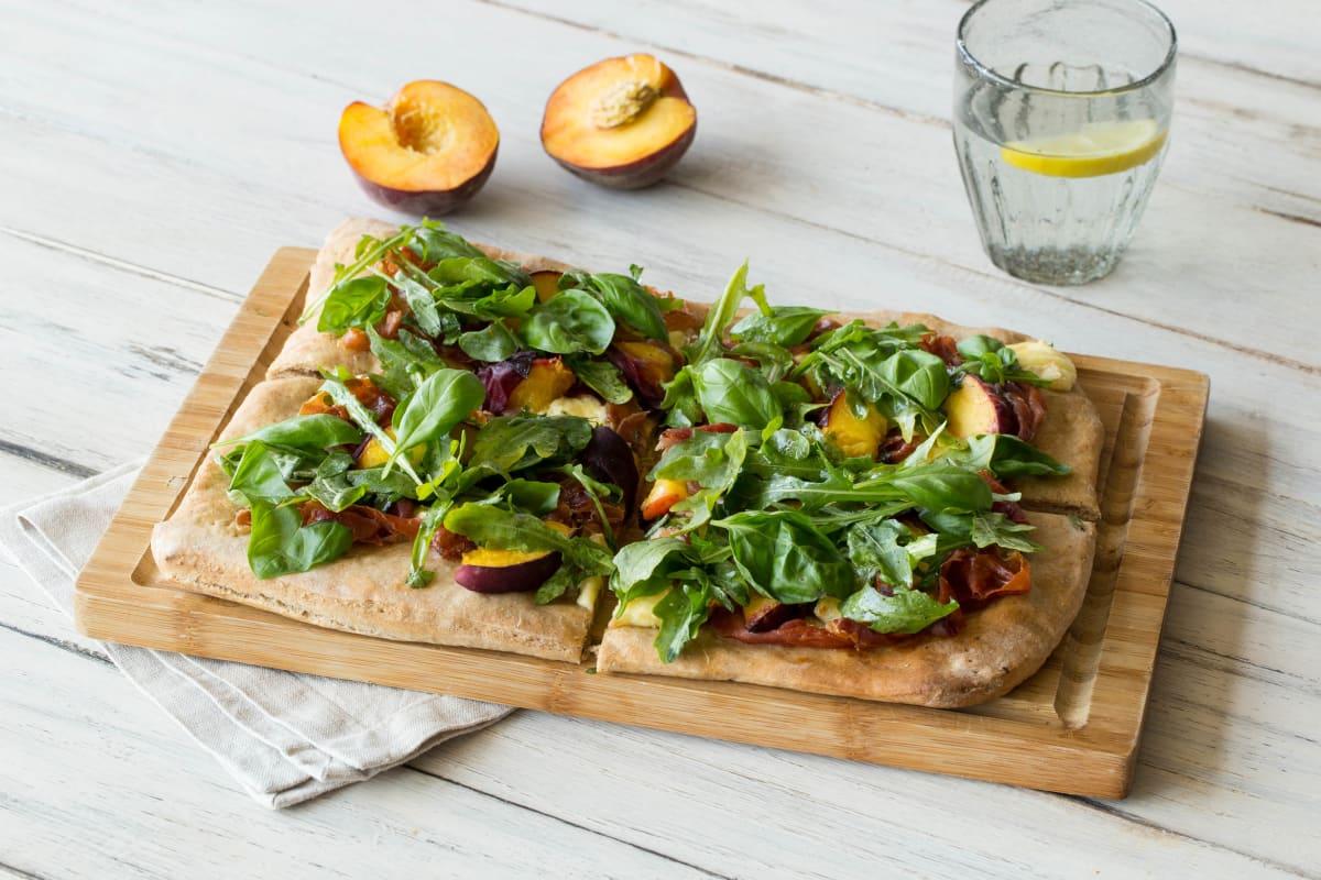 Peach and Prosciutto Flatbread
