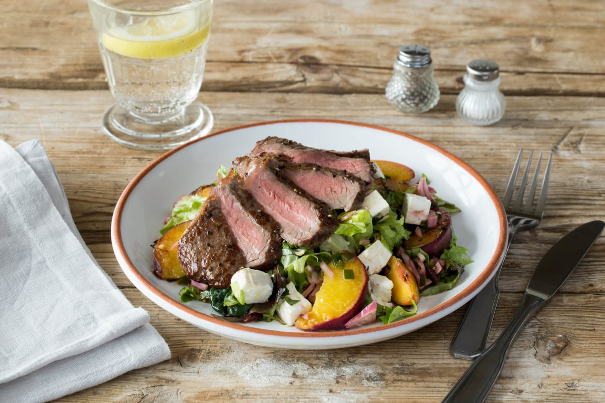Seared Steak & Charred Nectarine Salad