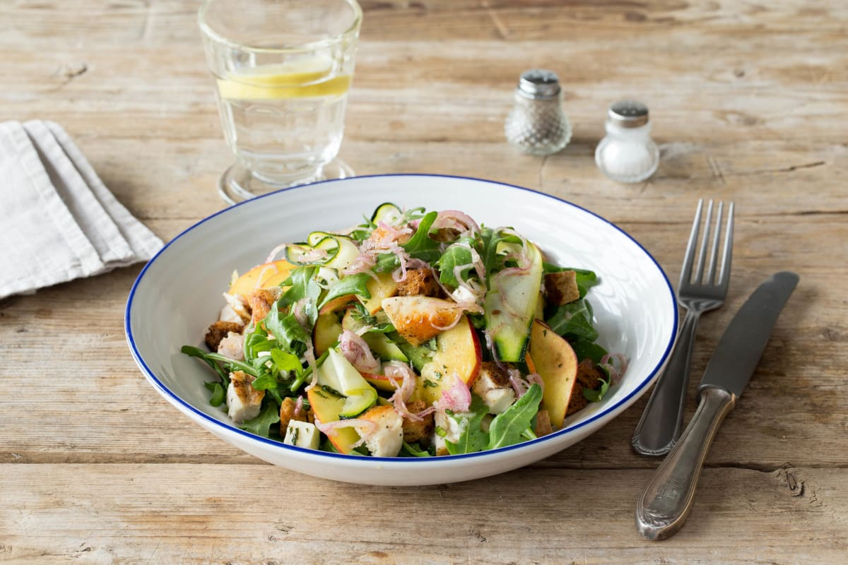 Chicken and Nectarine Panzanella