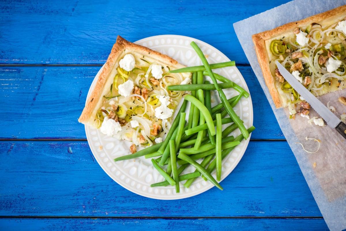 Rustic Leek and Goat's Cheese Tart