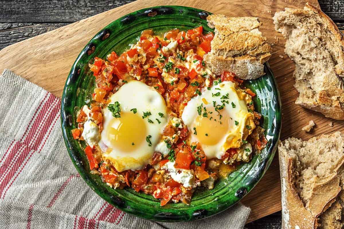 Chakchouka traditionnelle à l'œuf