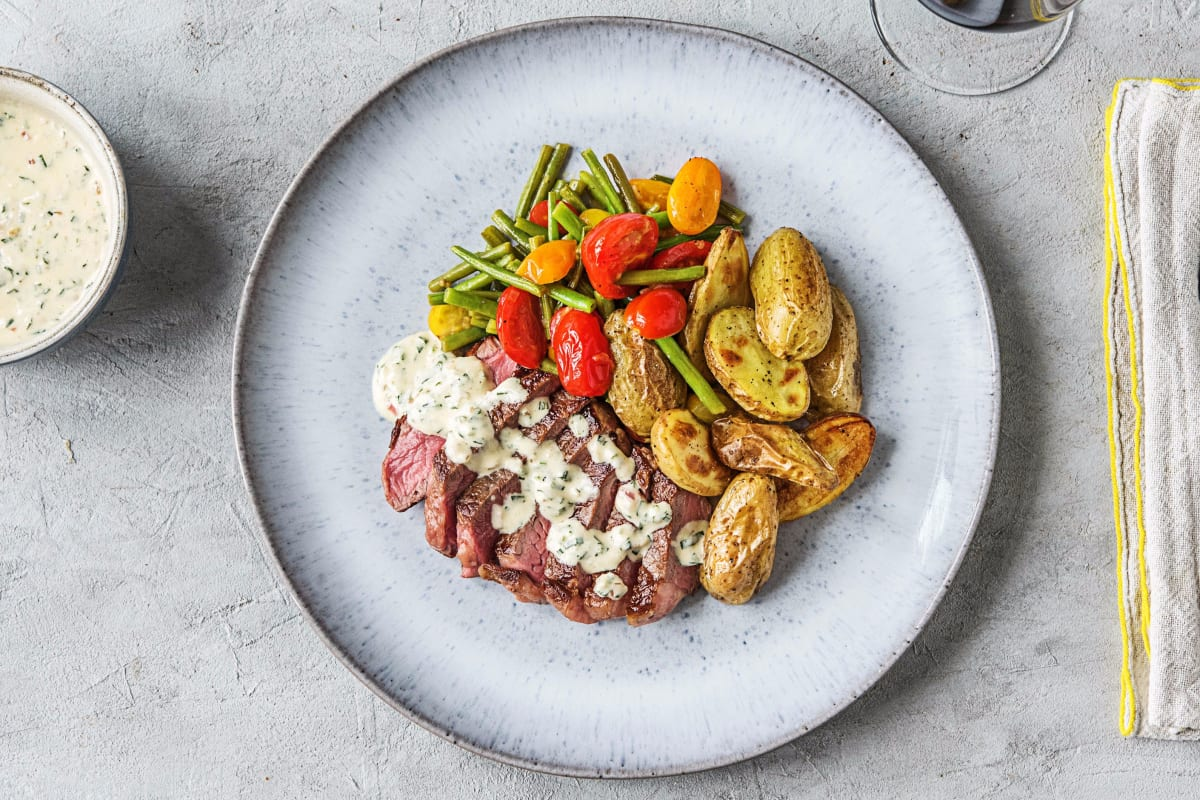 Creamy Bearnaise Strip Steak