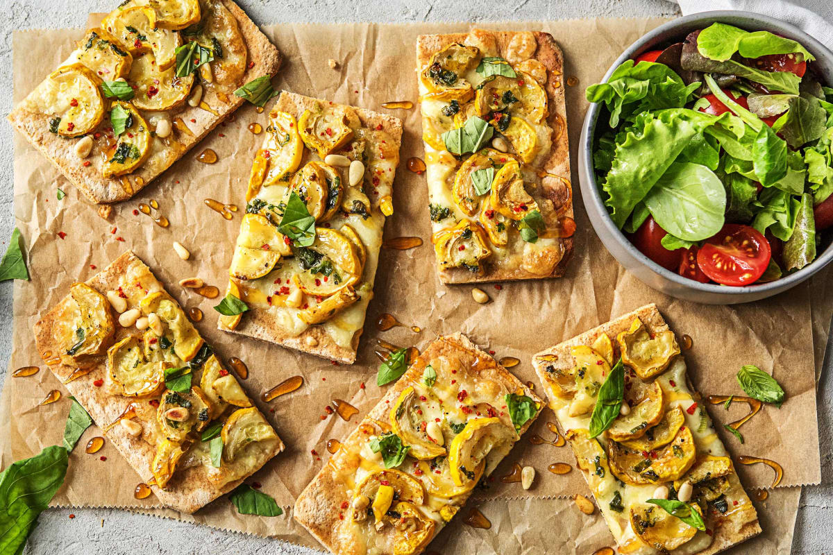 Yellow Squash Flatbreads