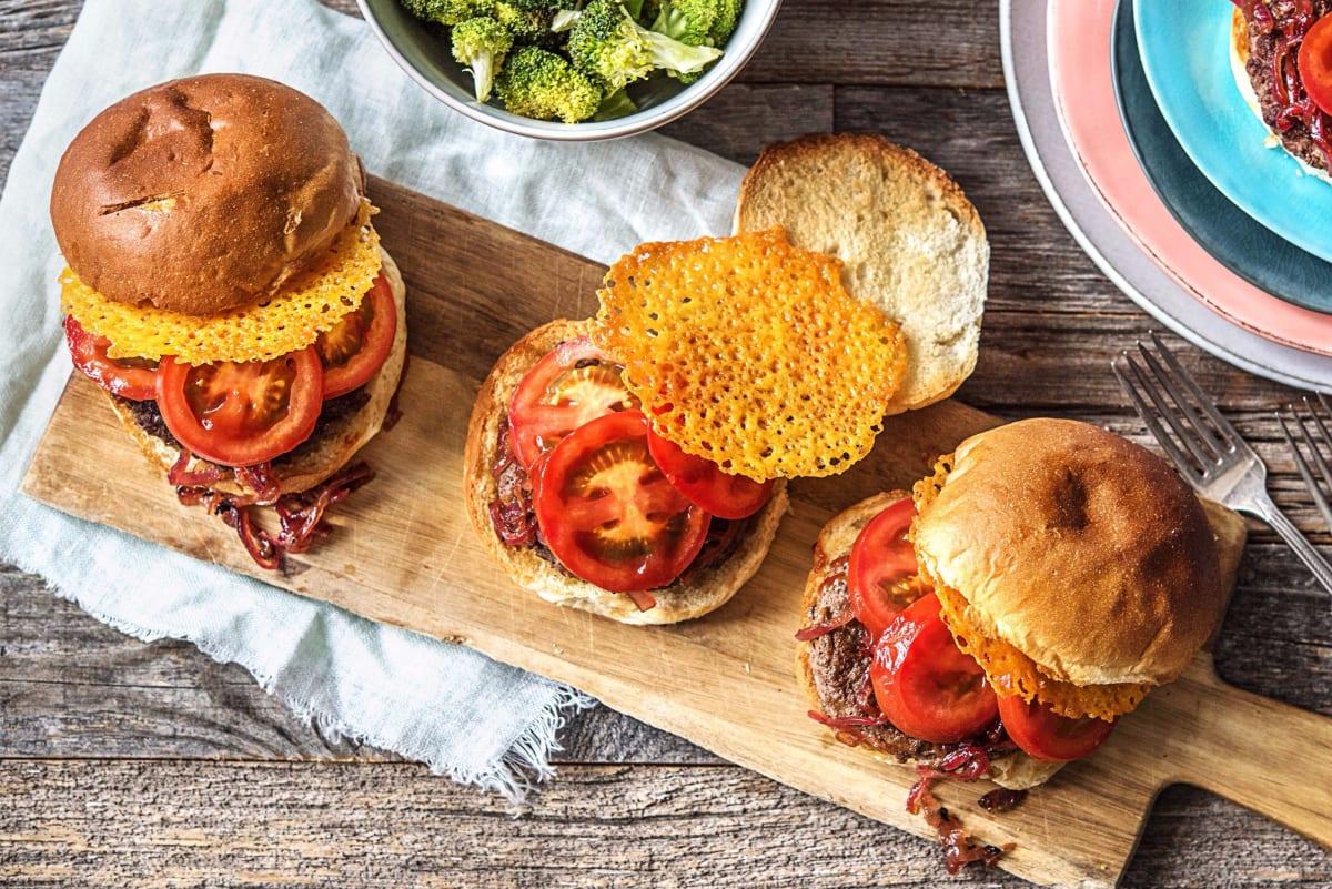Crispy Frico Cheeseburgers