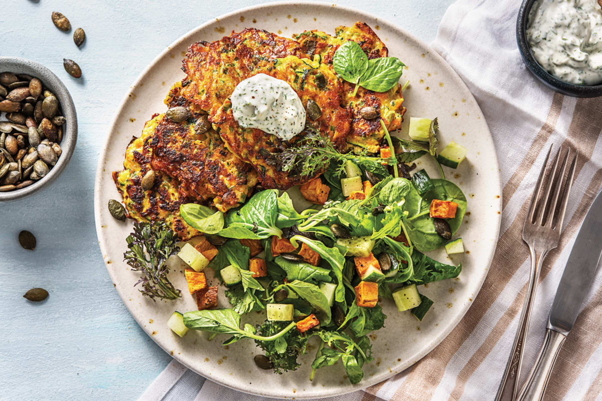 Cheddar & Courgette Fritters