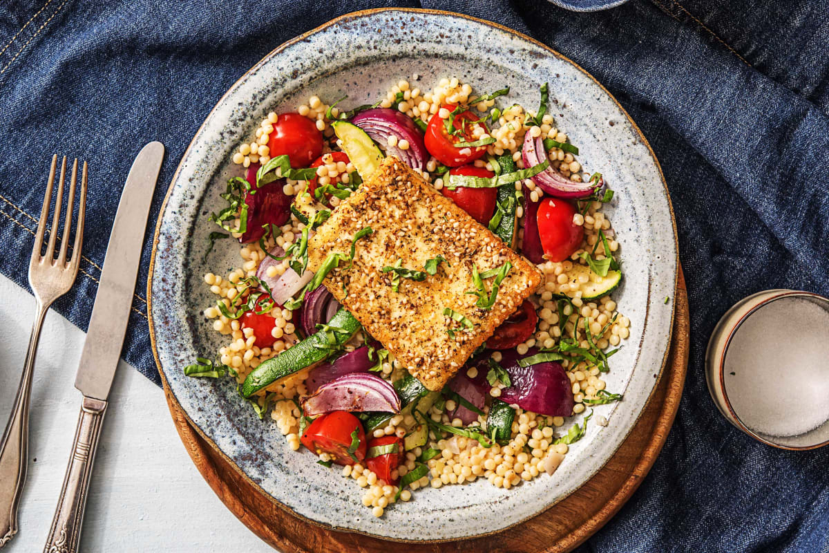 Za'atar Crusted Grilling Cheese