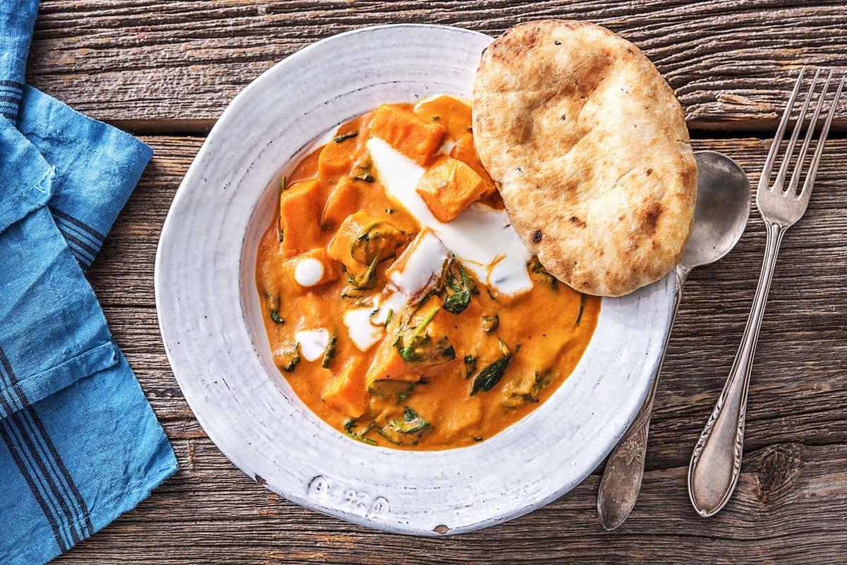 Indisches Süßkartoffel-Korma-Curry