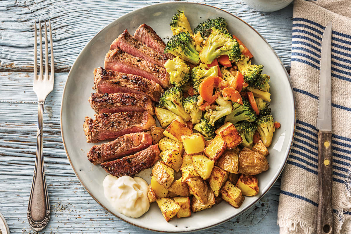 Seared Lemon-Pepper Beef