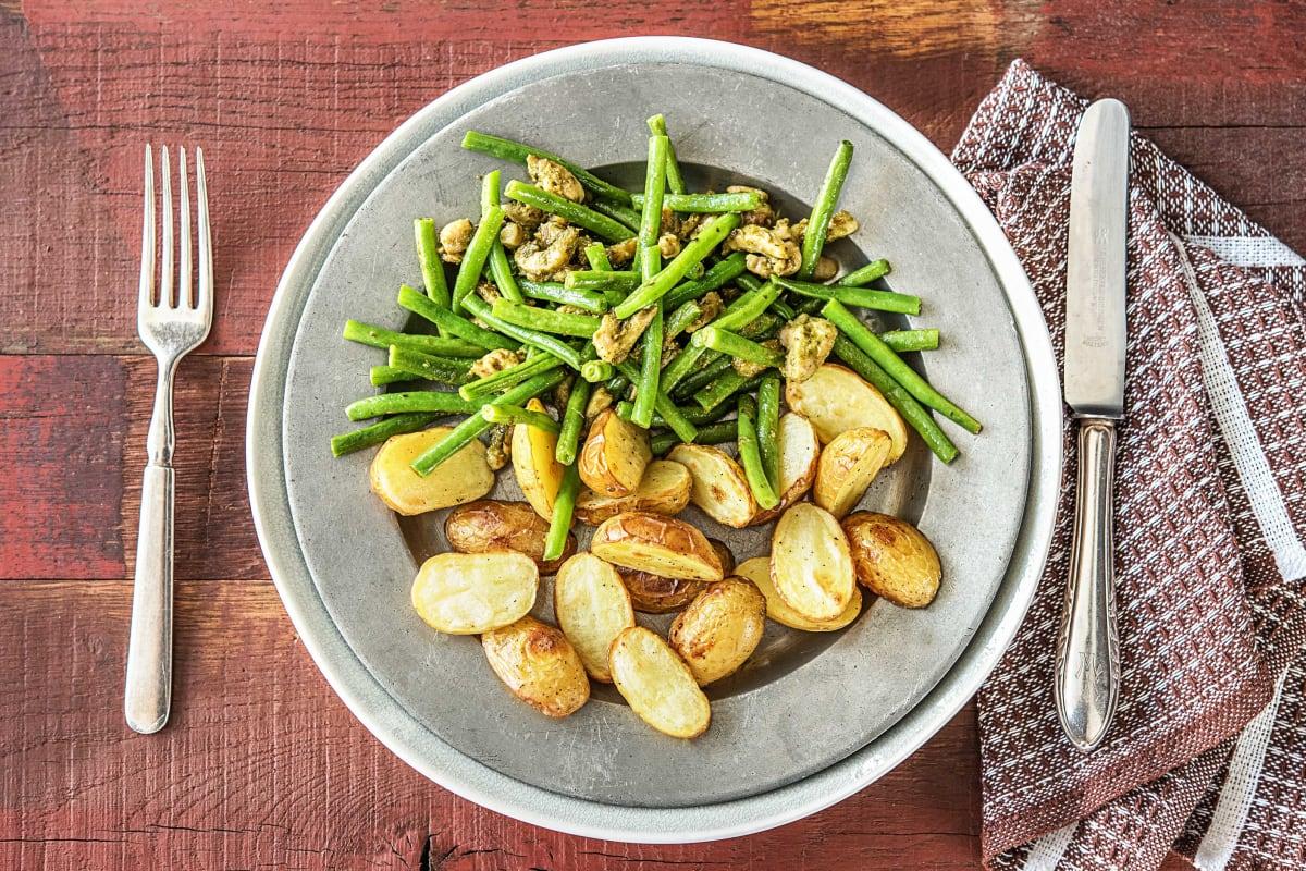 Aardappelen uit de oven met kippendij