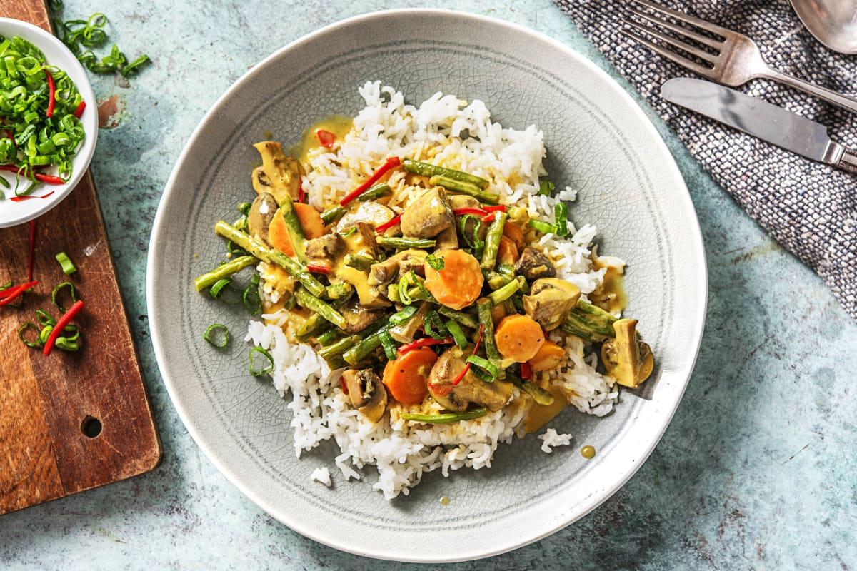 Gelbes Kokos-Curry