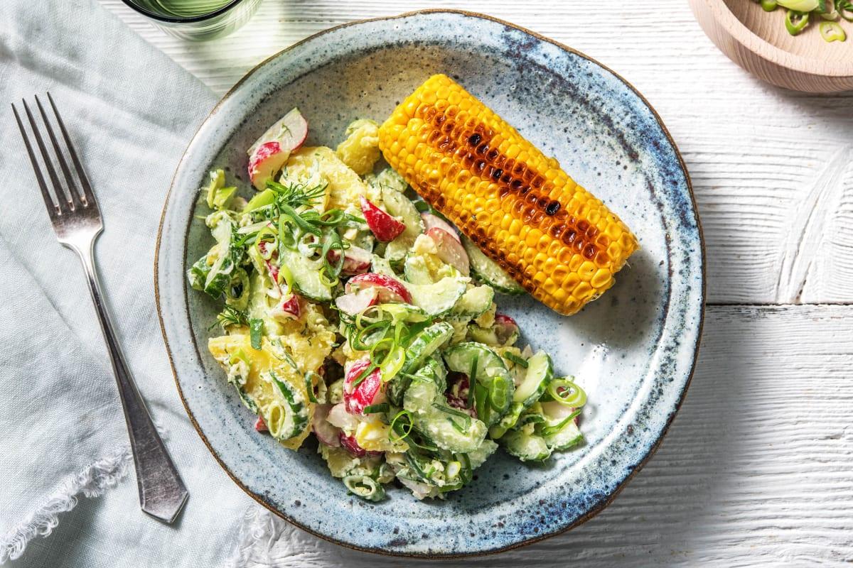 Skandinavischer Kartoffelsalat mit Dill