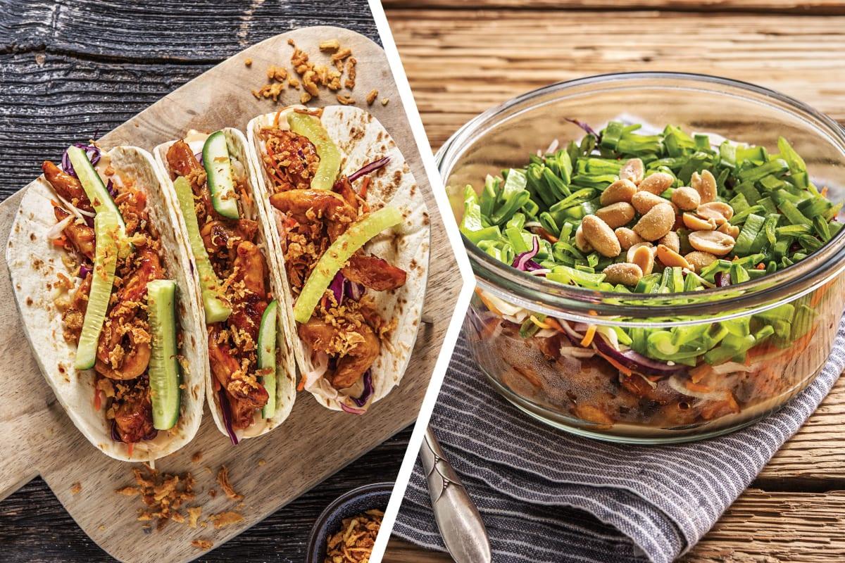 Asian Chicken Tacos for Dinner