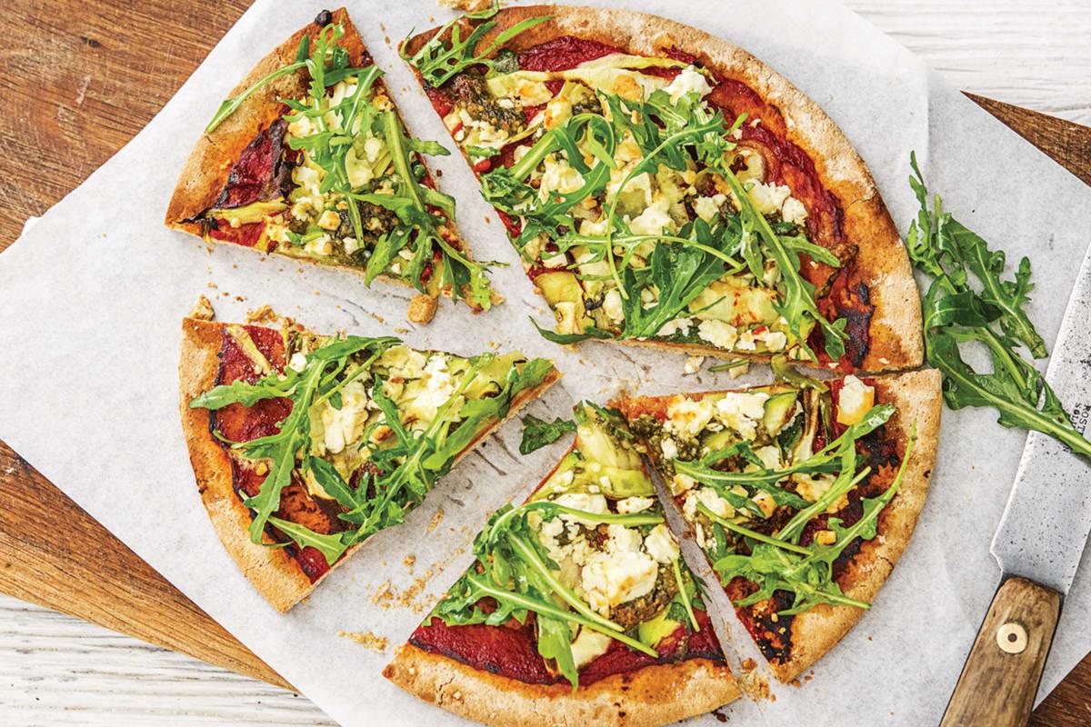 Speedy Basil Pesto Pizza