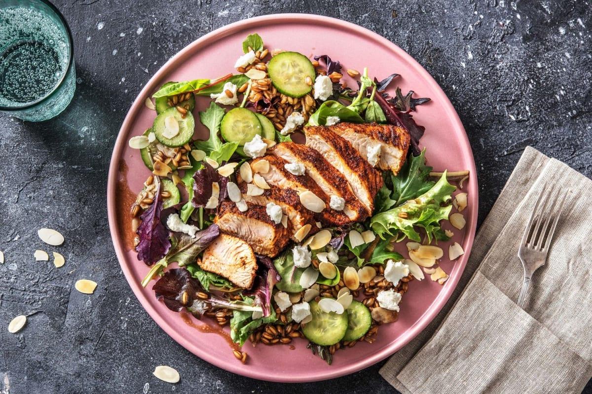BBQ Turkey with Farro Salad