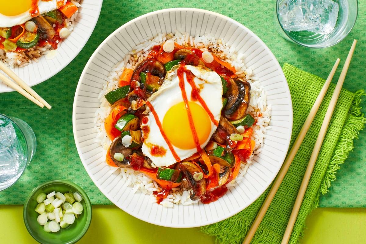 Veggie Bibimbap Rice Bowl