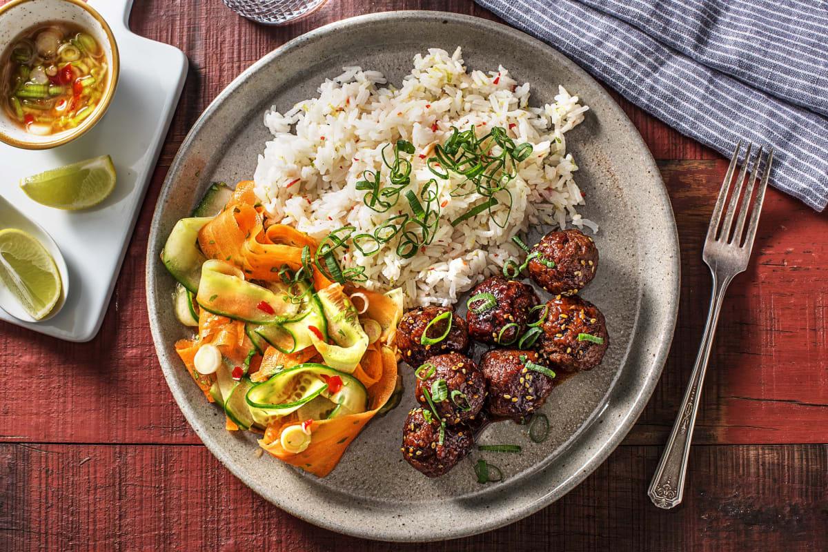 Bun Cha! Vietnamesische Fleischbällchen