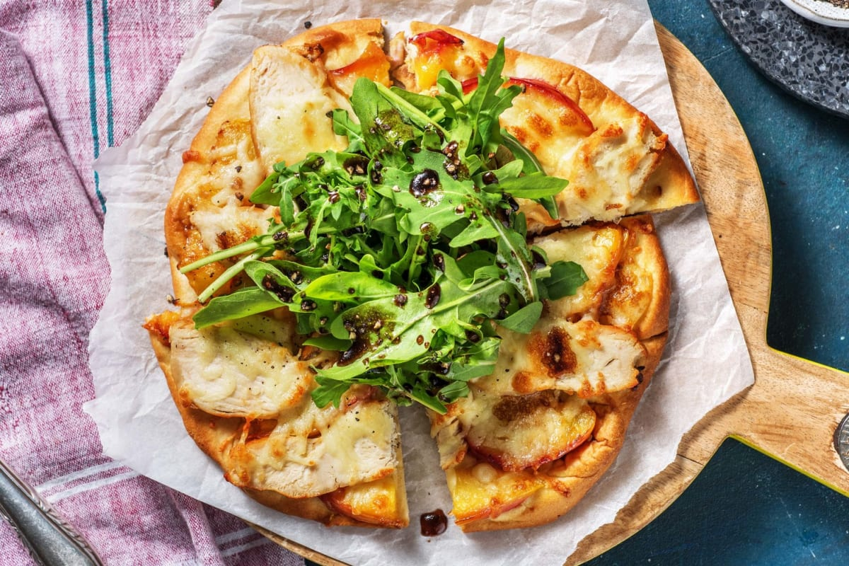 Grilled Chicken Pizza with Nectarine