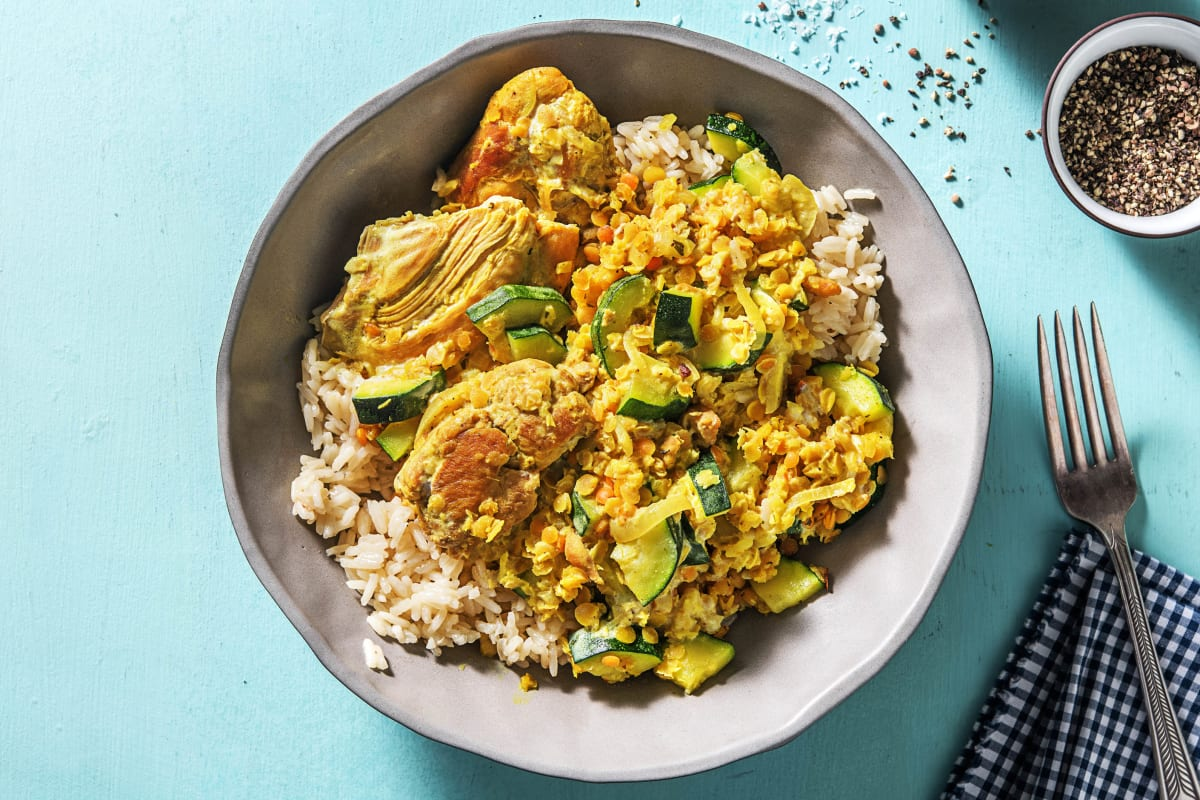 Malay Chicken and Red Lentil Curry