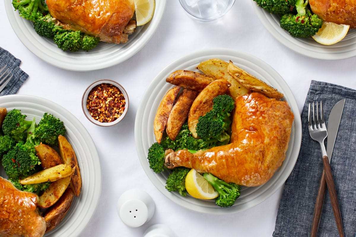 Oven-Baked Apricot Chicken Legs