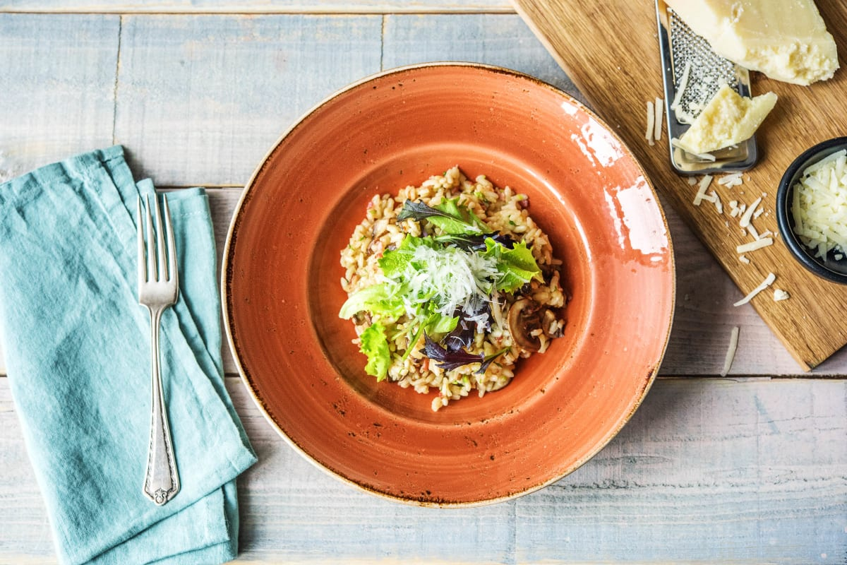 Oven-Baked Bacon Risotto