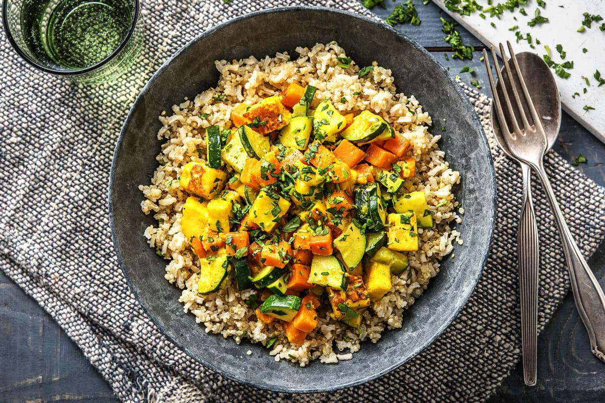 Paneer and Sweet Potato Curry (v)